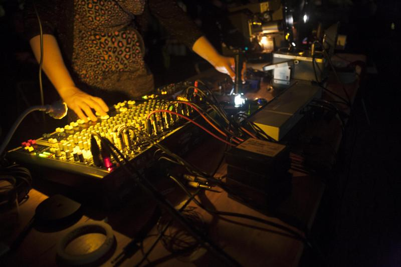 Live Expanded Cinema Set by Sally Golding